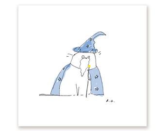 Wizard Cat Print - Funny Cat Print - Magic