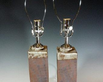 """Terra Cotta Lamps 22""""+ Tall"""