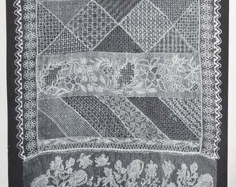 Hispanic Lace and Lace Making Florence Lewis May 1939 vintage 30s book antique Spanish textiles needlecrafts history of costume Spain Europe