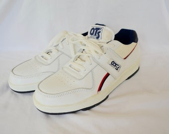 sale Vintage O.T.'s HYTEST steel toe WORK sneakers tennis shoes size 9M leather