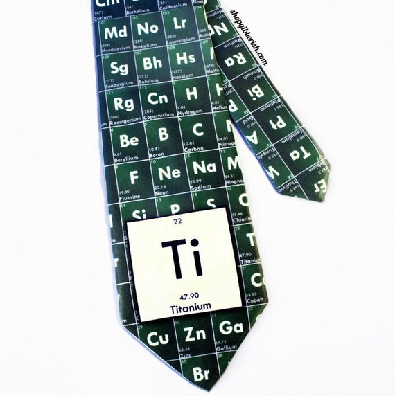 Science Neck tie Chemistry Customize Personalize - Periodic TableGroomsman, Groom, Wedding, Fathers Day, Science Teacher Gift Idea