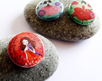Fairytales Button pack #1 - Badges - Pinback button