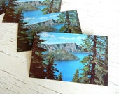 Vintage Oregon Postcards | Crater Lake | Cascade Mountains | Pacific Northwest | Wesco Color Card | Wedding Invitation