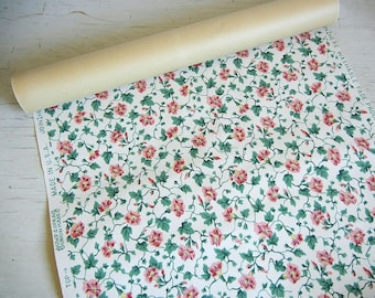Vintage Wallpaper Roll | Morning Glories Wallpaper | Vintage Morning Glories | Floral Wallpaper | Made in USA