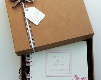 """Hen Party Personalised Scrapbook,  8""""x8"""" boxed album, photo and memory book"""