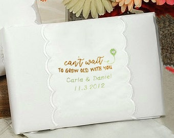Personalized Can't Wait To Grow Old With You Wedding Guestbook - 20206