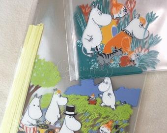 Moomin Food Safe Clear Plastic Bags - Set of 10 - Picnic / Landscape