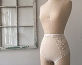 Sneak Peek Cream Mesh and Lace Honeymoon High Waisted Panties
