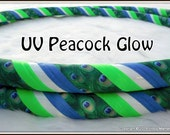NEW - 'UV Peacock Glow' - Glow in the Dark Travel Hula Hoop Made Your Perfect Size!