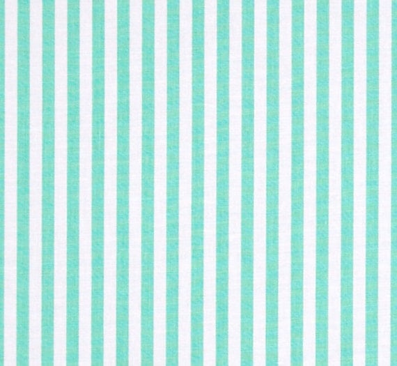 Clown Stripe Sprout Fabric Michael Miller Fabric Mint