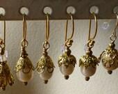 Earrings Freshwater Pearl Vermeil Wires Bridal, Bridesmaid, Vintage Style FWP104