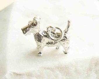 Sterling Silver Scottie Dog Charm