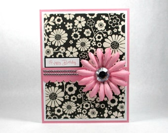 Feminine birthday cards, happy birthday cards, daisy, daisies, birthday greeting cards, birthday cards for her