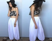 on a cloud -- vintage 80s Indian crinkle cotton balloon pants S/M