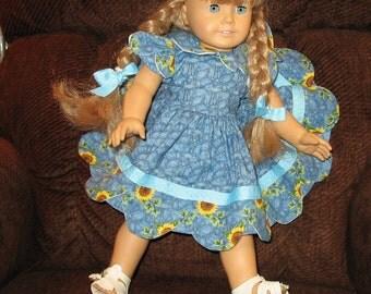 Sunflower Basket  dress for American Girl