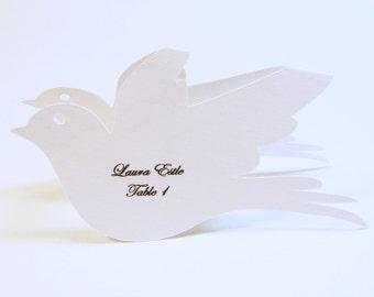 love bird wedding place cards wine glass topper love bird bridal shower bird