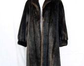 70s Faux Fur Coat Emilio PUCCI size Small Medium Full Length Stroller Tissavel