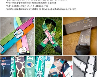 Custom Camera Strap - Personalized neck straps for you and your business