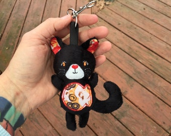 Cat Keychain - Mini Cat Plush - Personalized Keychain - Kitty Plush - Kitty Keychain - Personalized Plush - Gifts for Her - Stuffed Cat