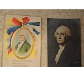 Antique Vintage George Washington Postcards - Set Of 2 - 1910