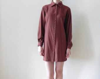 70s Yves Saint Laurent Shirt Dress