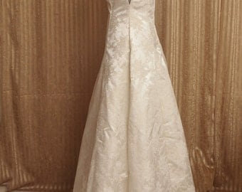 Medieval Princess - Brocade Formal Dress or Bridal Gown