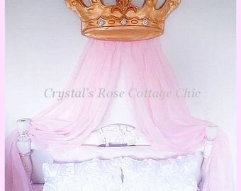Pair of Sheer Panels for Your Bed Crown Canopy / Teester, Color Choices Available