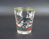 Vintage 1950's Shot Glass with Black Face Cannibal Theme