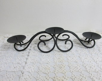 Gothic Candelabra Fireplace Insert Centerpiece 3 Pillar Candle Holder