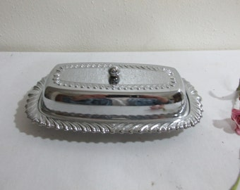 Chrome Butter Dish Set of 3 pieces