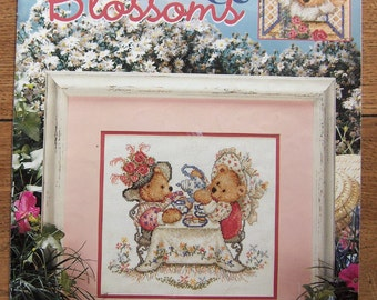 Cross Stitch patterns BEARS and BLOSSOMS bears children