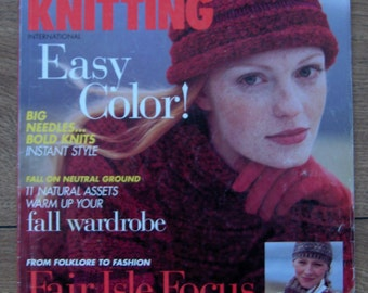 vintage 1994 Vogue knitting bok patterns Alice Starmore Shetland Islands Scotland Fair Isle OOP