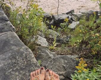 Wildflower crochet barefoot sandals