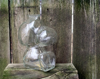 1958 Snoopy Clear Glass Snoopy Bank