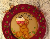 Gingerbread and Cupcake Plate Upcycled Child's Plate