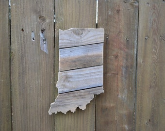 Indiana Cutout Reclaimed Wood MADE TO ORDER