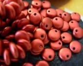 6mm Lentil Beads, Czech Glass Beads- Matte Metallic Lava (50)
