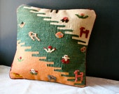 Vintage Southwestern Pillow Hand Woven Wool Cover South American SALE