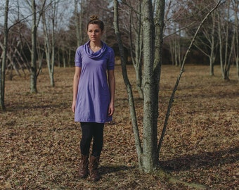 Fawn Organic Cotton Short Sleeve Tunic Dress Made in the USA - Organic Cotton Clothing