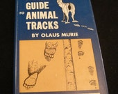 Vintage Outdoor Books,A Field Guide to Animal Tracks by Olaus Murie 1960 Peterson Field Guide Series, 1st Edition Books,1st ed. signed Books