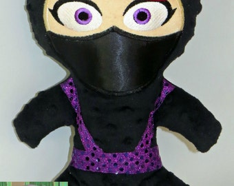 Clumsy Ninja doll - Kira custom made