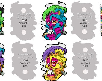 Preorder FrankenPuff Hatpin by Undead Ed Glows in the Dark