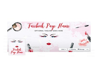 SALE 30% OFF Facebook Banner Sets - Facebook Timeline Cover - Beauty Facebook Cover - Makeup Facebook Cover  - Beauty 1-16
