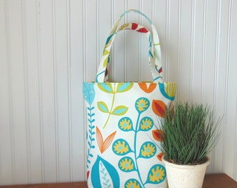 Tote Bag, Floral Tote Bag, Cotton Tote Bag, Book Bag, Canvas Tote Bag, Handbag, Purse, Shoulder Bag, Gift Idea for Her, Mother's Day Gift