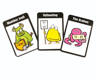 Math Monsters card game