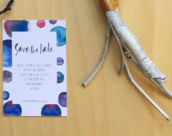 Printable Wedding Invitation - Galaxy Spots Save The Date Wedding Card (1 Piece)