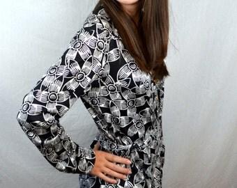 Vintage Designer Diane Von Furstenberg Silk Polka Dot Vintage 90s Dress