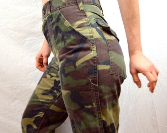 Vintage 70s 80s Camouflage Camo Pants