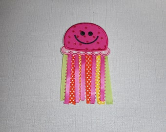 Free Shiping Ready to Ship Jellyfish Fabric Iron on applique