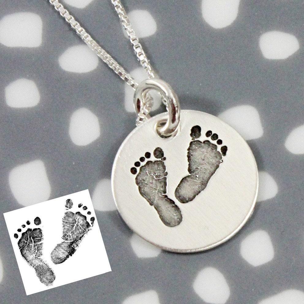 Actual Footprints Necklace Footprint Jewelry Sterling. Octagon Bracelet. Translucent Watches. Jewelery Bracelet. Certified Emerald